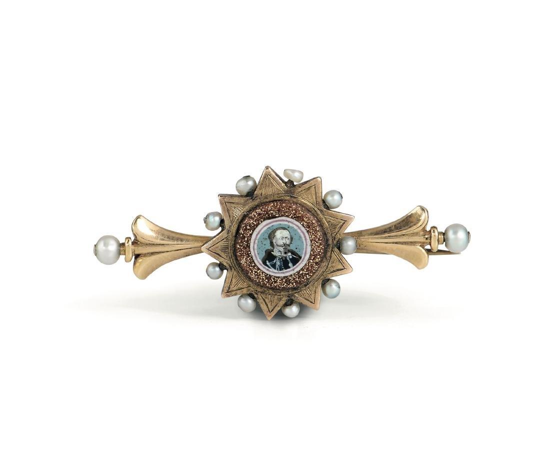A brooch, Franchini, Murano, 19th century