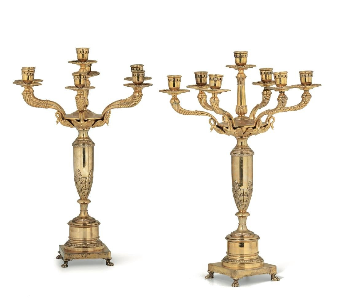 Two candle holders, Italy, mid 20th century