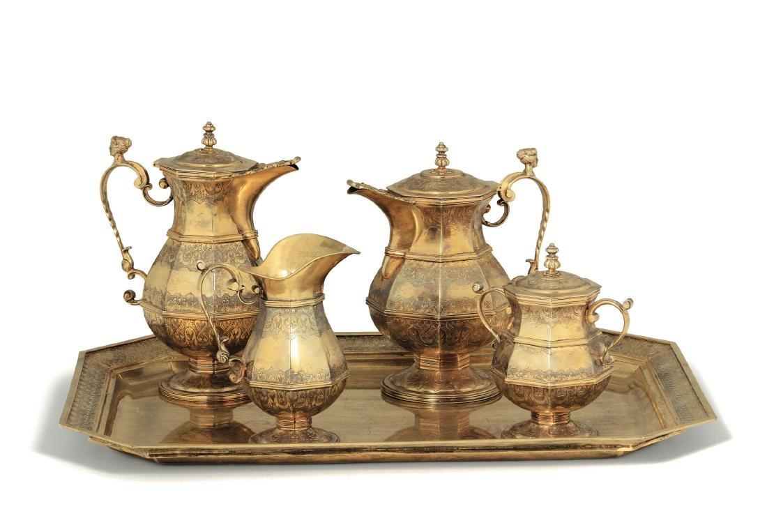 A tea and coffee set, Hanau (?), 19th-20th century