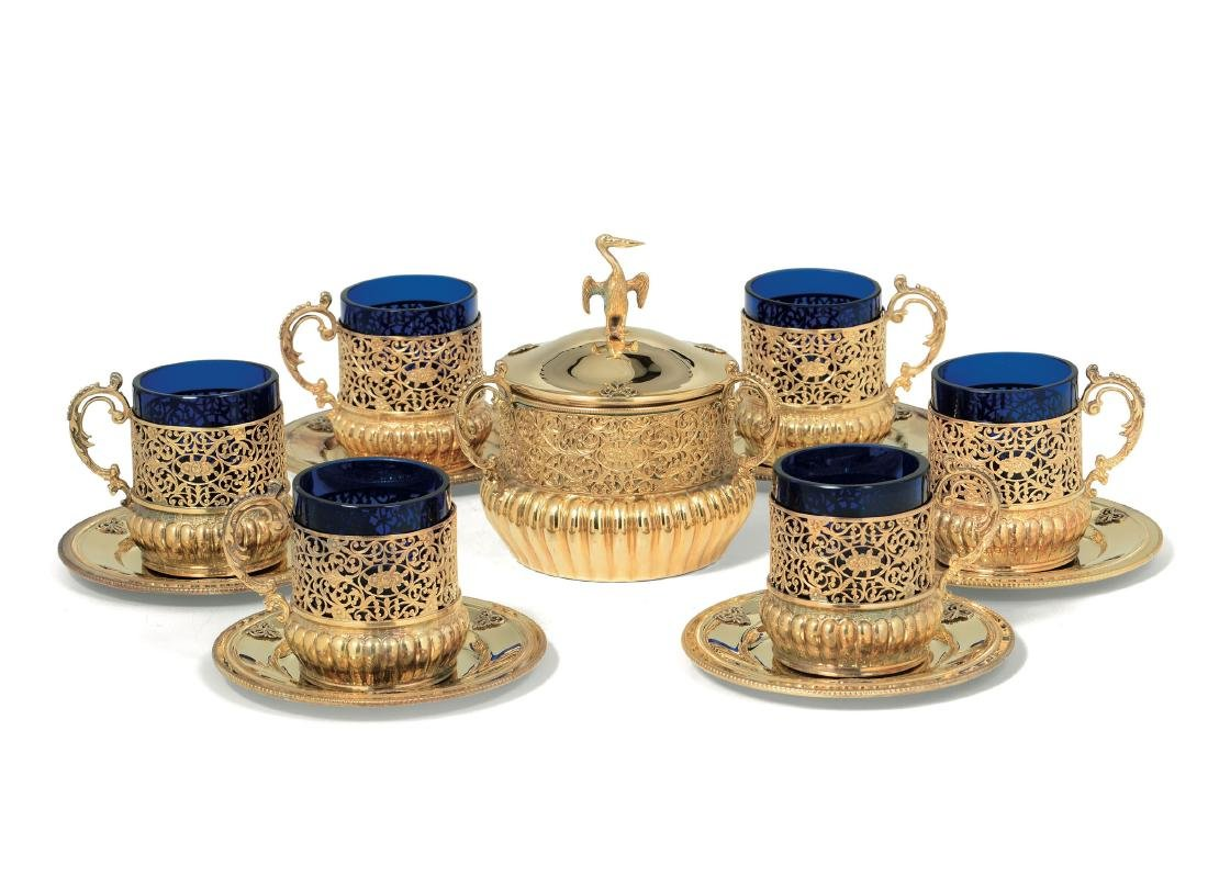 A set of cups and plates, Italy, 20th century