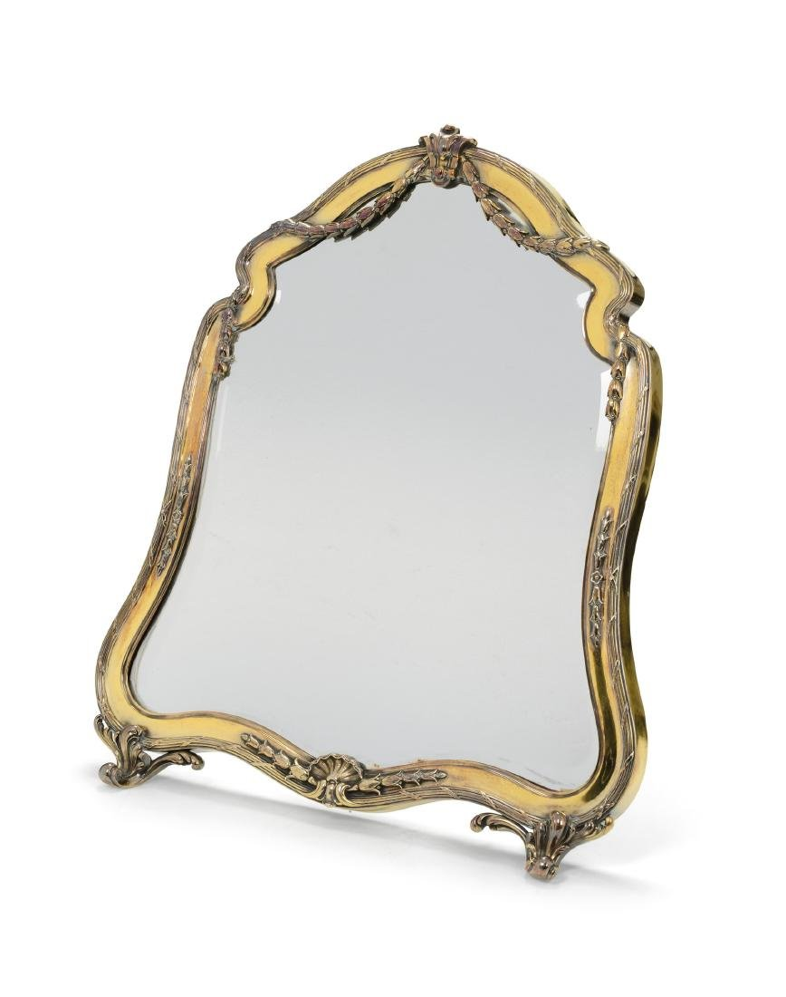 A table mirror, A. Aucoc, Paris, late 19th century