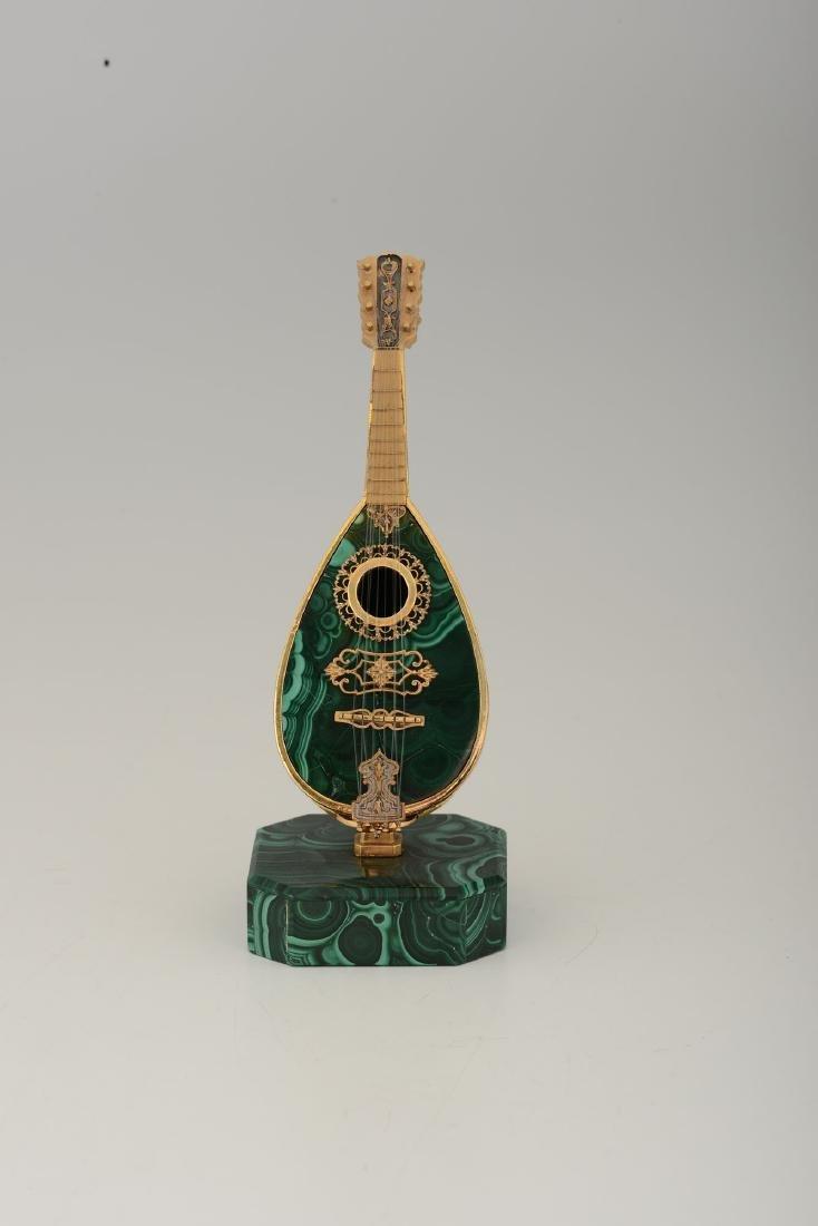 A mandolin model, jeweler Pallanzani, Milan, 20th