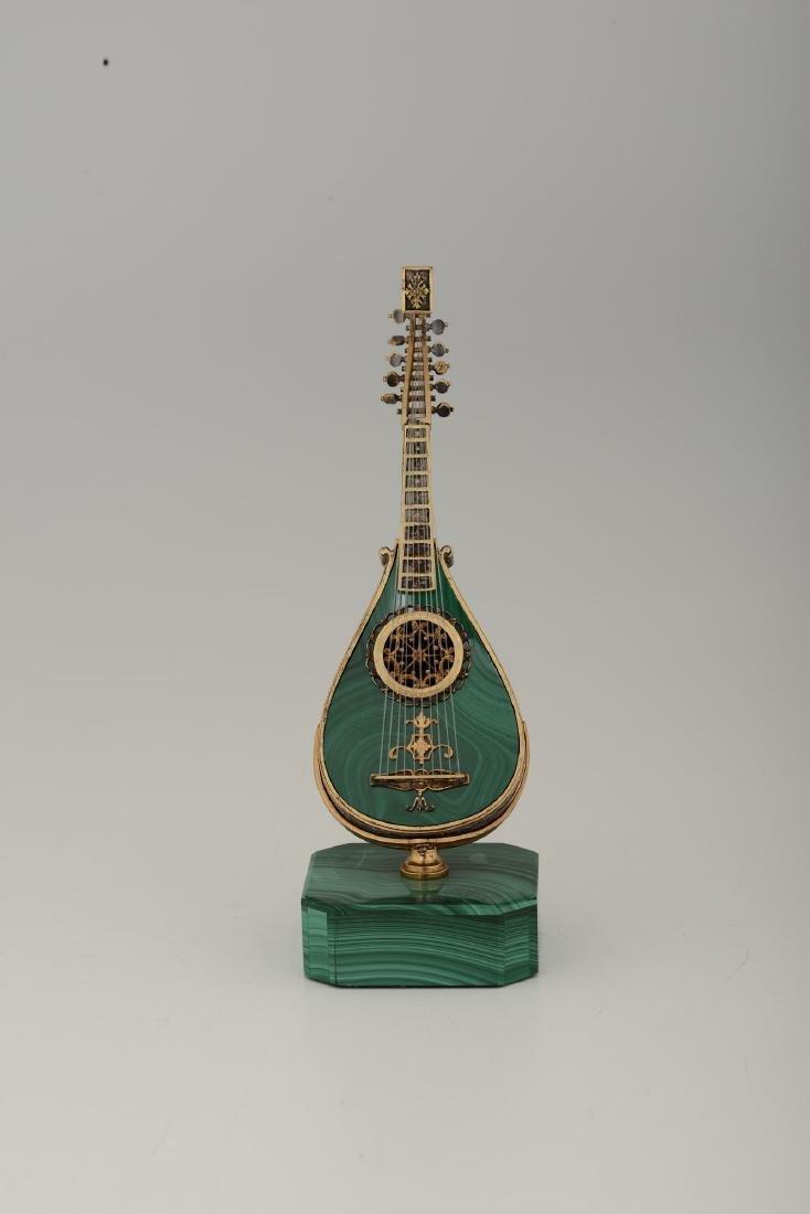 A cello model, jeweler Pallanzani, Milan, 20th century