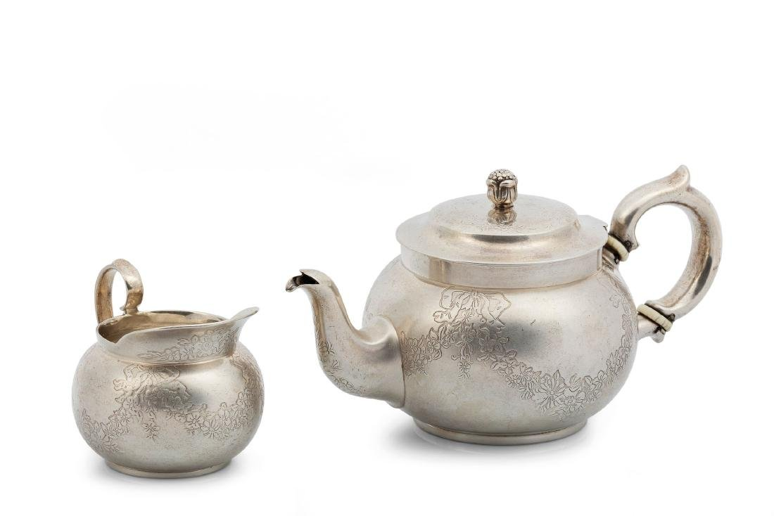 A coffee pot and milk jug, Tiffany USA, early 1900s