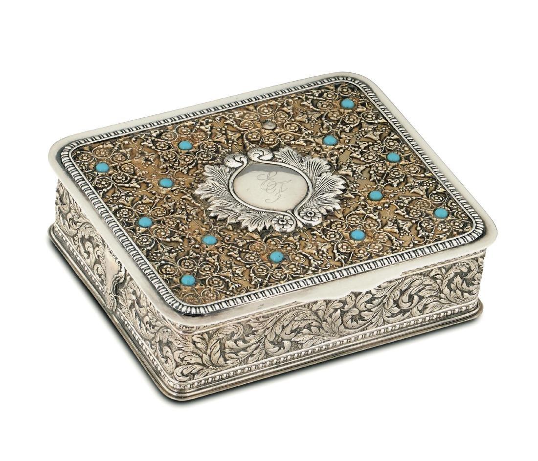 A silver box, Stefani, Bologna, 20th century