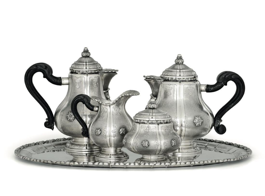 A silver tea and coffee set, Milan, 1935-1945