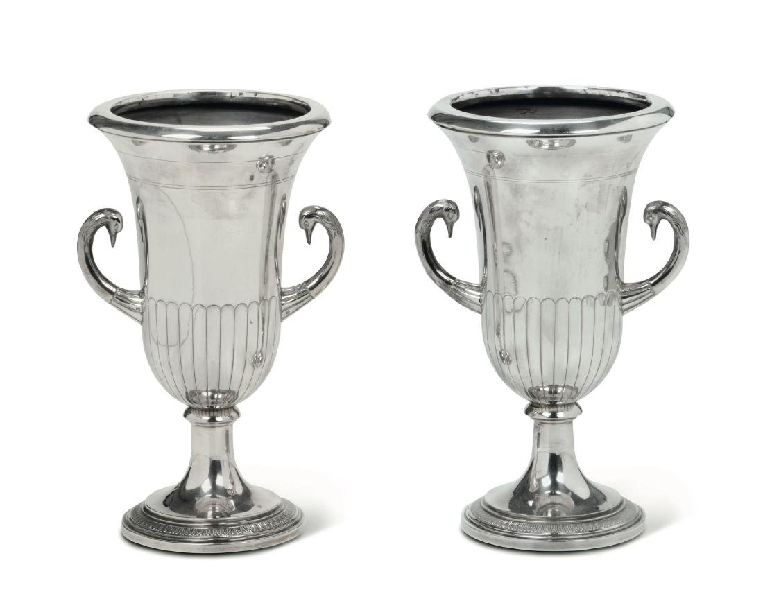 Two silver vases, France, 20th century