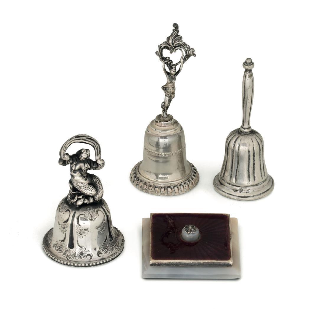 Four bells, various manufactures, 18-1900s