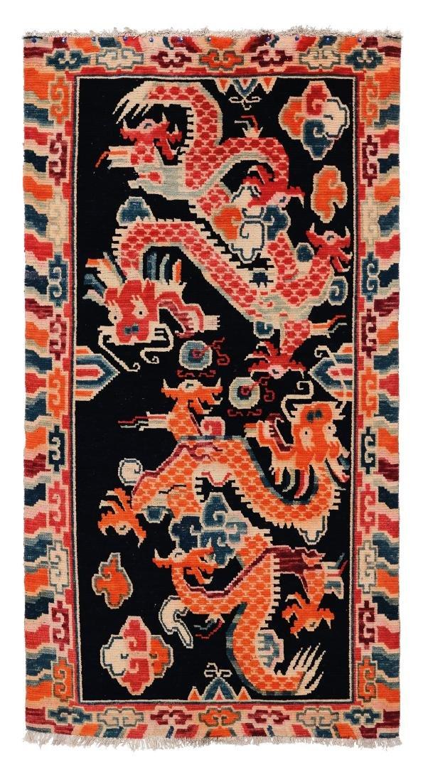 Tappeto Tibet, inizio XX secolo,