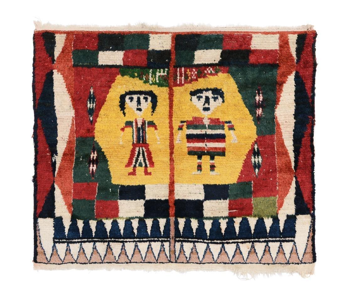 Particolare tappeto Bakhtiari gabbeh, ovest Persia