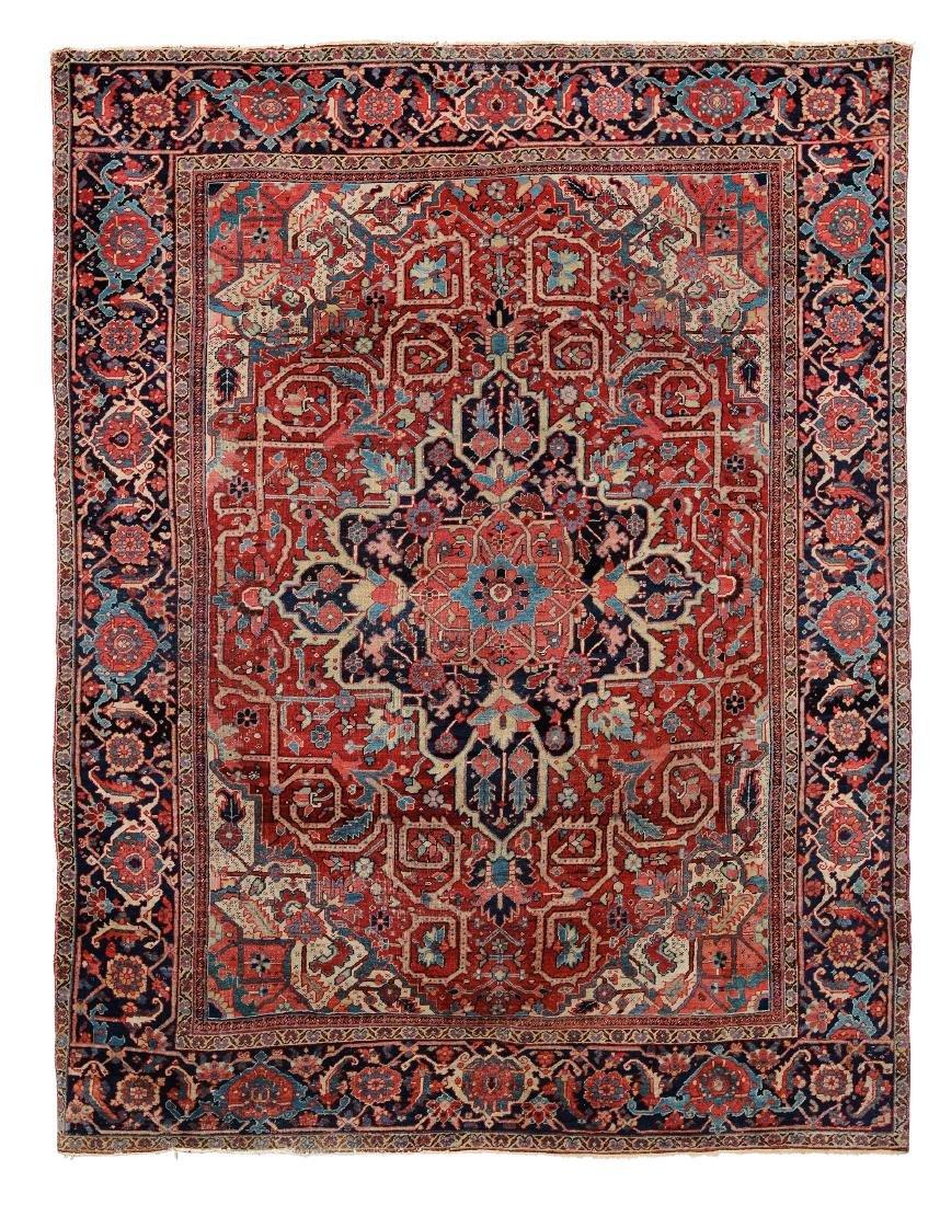Tappeto Heritz nord ovest Persia fine XIX secolo,