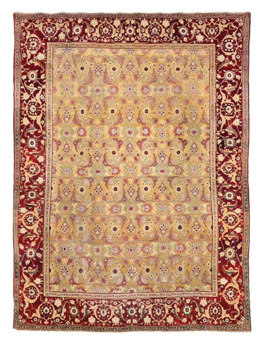 Elegante tappeto Agra, India metà XIX secolo,