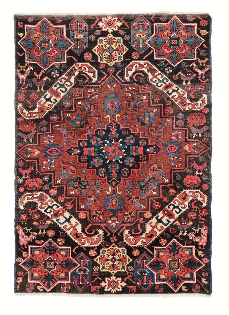 Particolare tappeto Seichur, Caucaso fine XIX secolo,