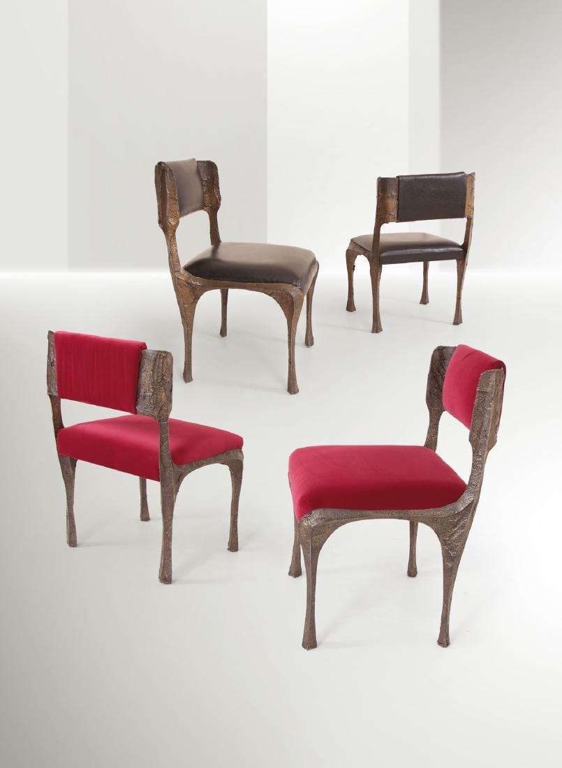 Paul Evans, four chairs, USA, 1970 ca.