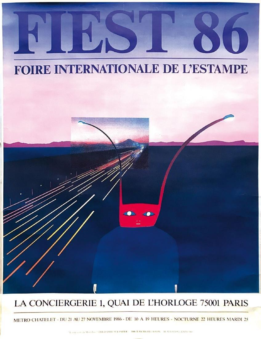 J-M. Folon, two posters, 1972-86