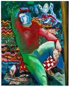 Sandro Chia (1946), Il pittore ed il suo tappeto, 2005