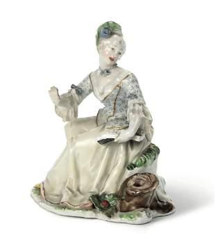 Rarissima figurina Nymphenburg, 1760 circa Modello di
