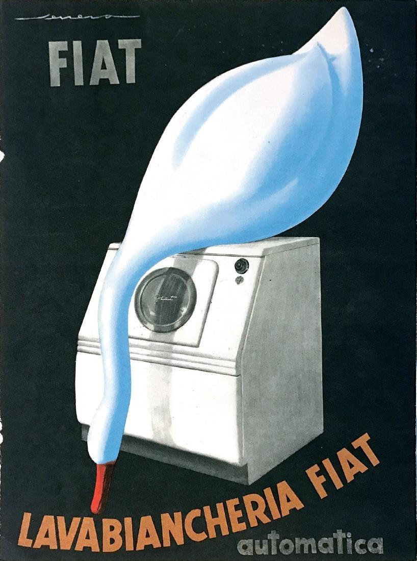Federico Seneca ( 1891 - 1976 ), LAVABIANCHERIA FIAT