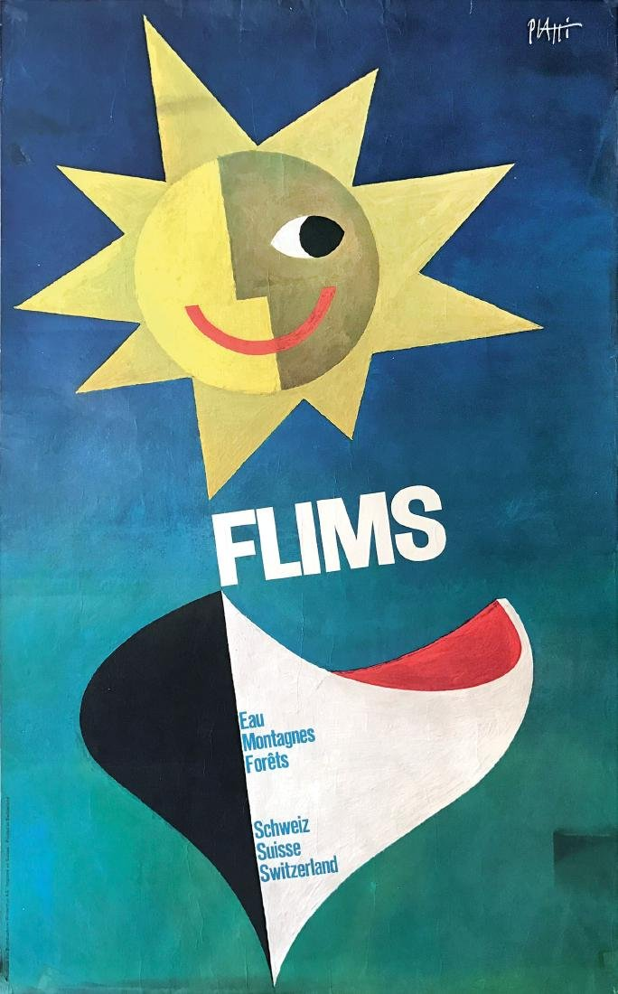 Celestino Piatti ( 1922-2007), FLIMS / EAU, MONTAGNES,