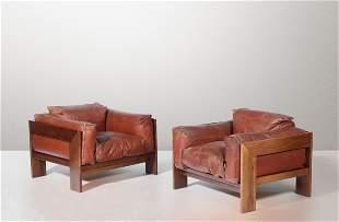 Afra & Tobia Scarpa, Two mod. Bastiano sofas, Italy