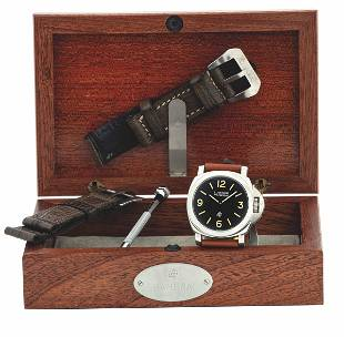 PANERAI - Very fine stainless steel wristwatch with