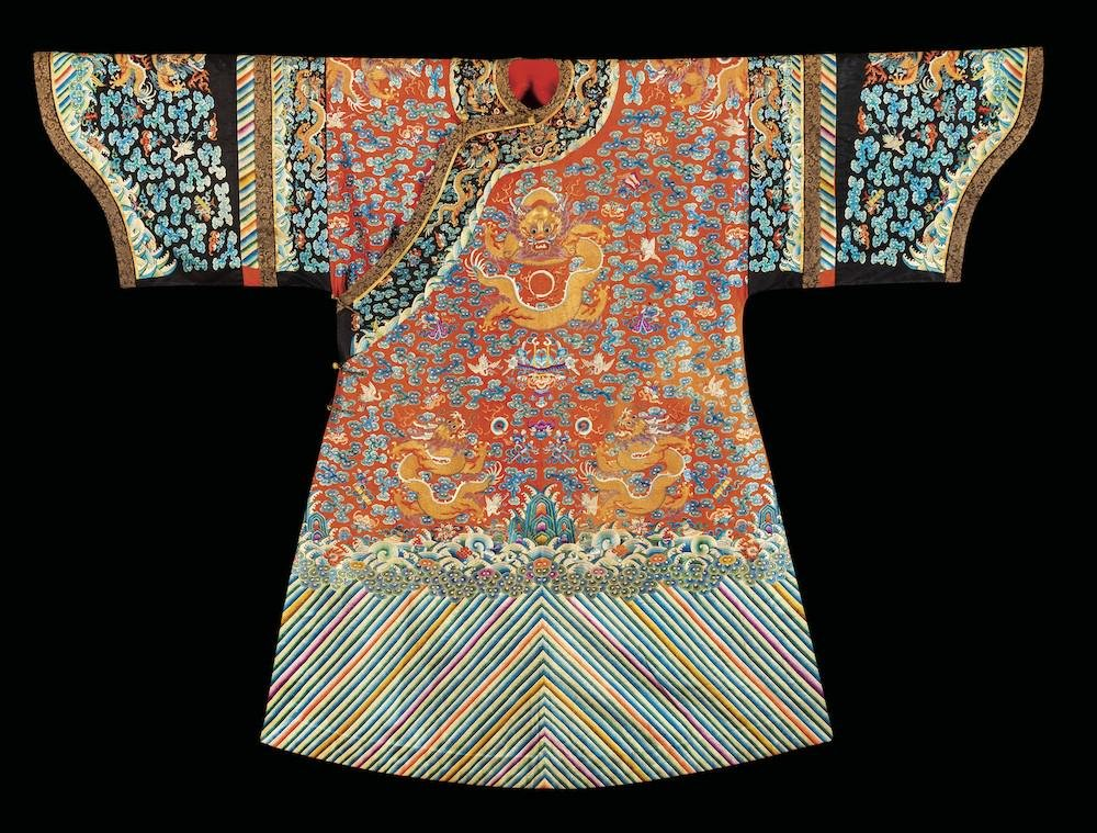 An Imperial silk robe, China, Qing Dynasty