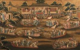 A painting on paper, China, Canton, Qing Dynasty