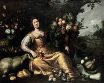 Jan Roos (Anversa 1591- Genova 1638), Scena allegorica