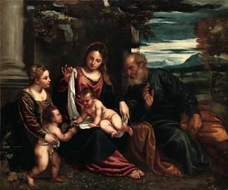 Polidoro da Lanciano, attributed to, Holy Family