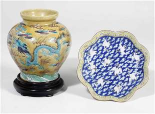 Two porcelain items, China, Qing Dynasty