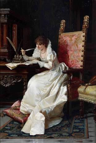 Pio Ricci (1850 - 1919), attr., La lettera