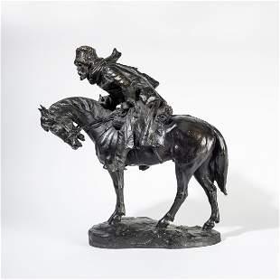 Russian school, 1900s, Cossack riding a horse