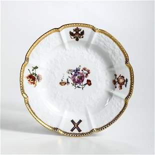 A porcelain plate, Meissen, 1744-45