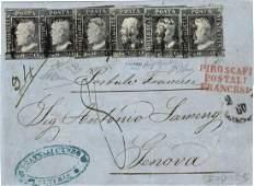 Lettera da Messina per Genova del 2 luglio 1860,