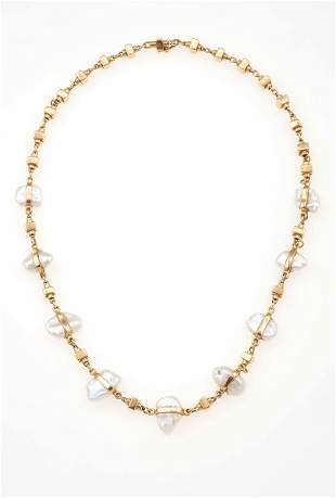 Collana con perle Keshi,