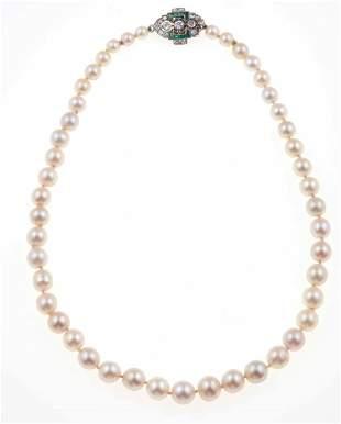 Girocollo con perle coltivate,