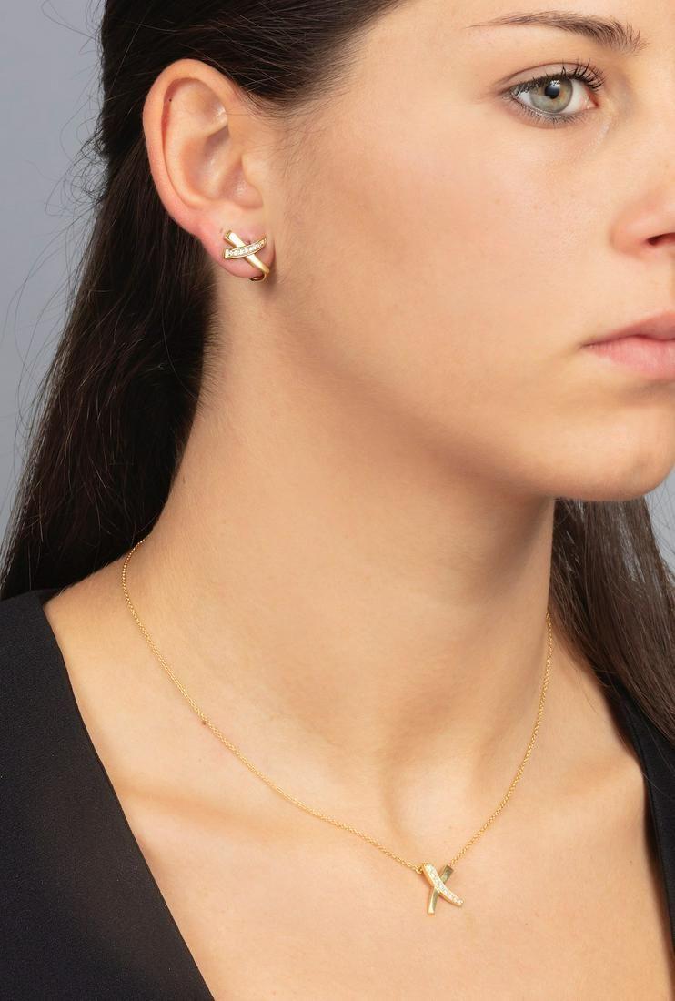 """Tiffany & Co. Demi-parure """"X"""" composta da pendente ed"""