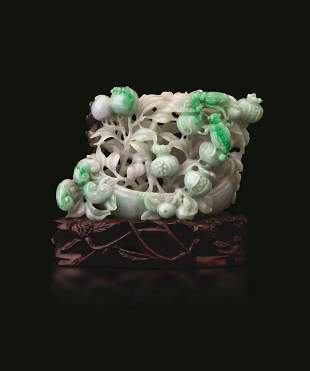 A jadeite group, China, Qing Dynasty