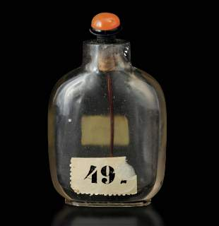 A rock crystal snuff bottle, China, Qing Dynasty