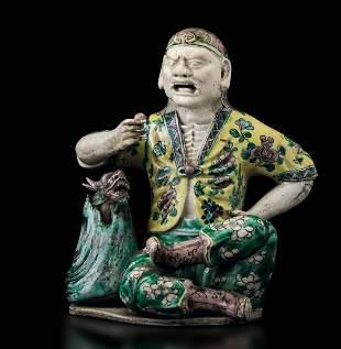 A porcelain figure, China, Qing Dynasty