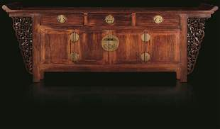 A Huanghuali wood sideboard, China, Qing Dynasty