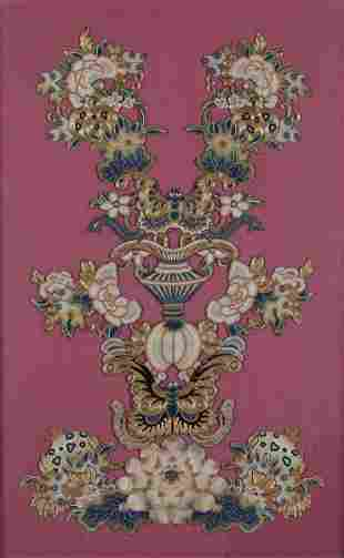A silk canvas, China, Qing Dynasty