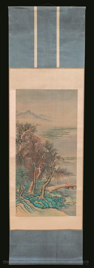 A painting on silk, China, Qing Dynasty