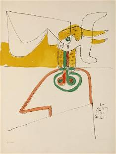 Le Corbusier (1887-1965), Taureau 6/Icone 8, 1931-1964