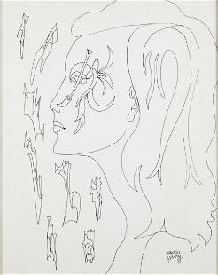 Maurice Henry (1907-1984), Daphne au bord de la mer,