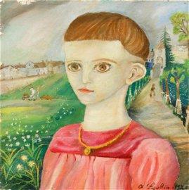 Antonio Ligabue (1899-1965), Ritratto di Elba, 1935