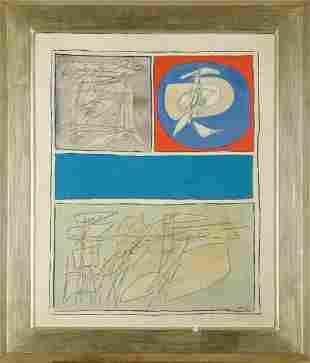Achille Perilli (1927), Bis Azzurro, 1963