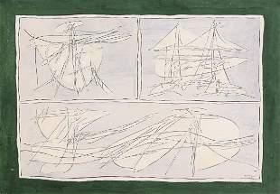 Achille Perilli (1927), Senza titolo (n 17-63), 1963