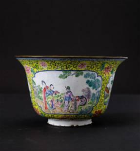 An enamel bowl, China, Qing Dynasty, An enamel bowl,