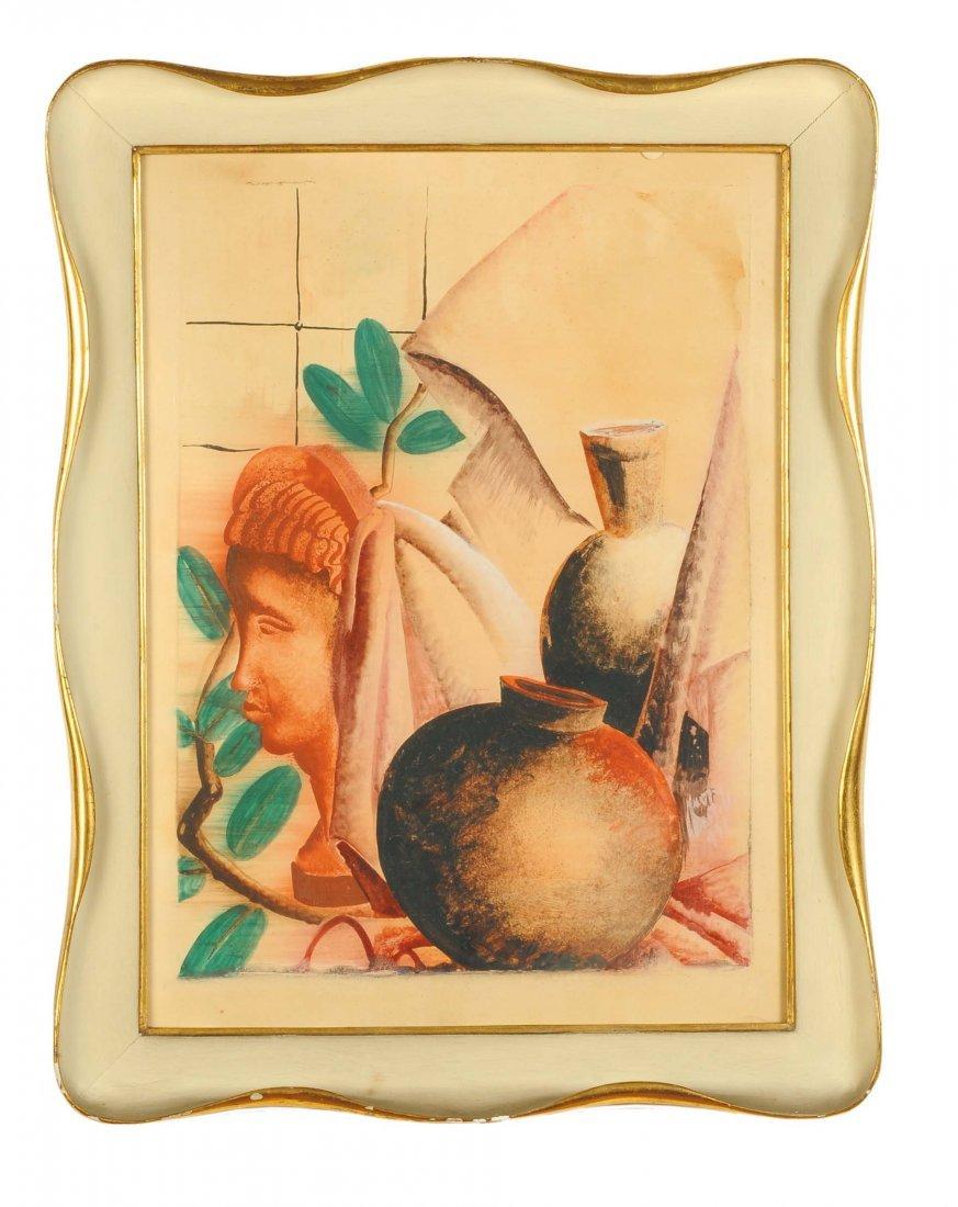 Fiore Martelli (1908-1934) Natura morta con profilo di